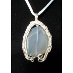 Wire Wrapped Horseshoe Calcite Gemstone Necklace